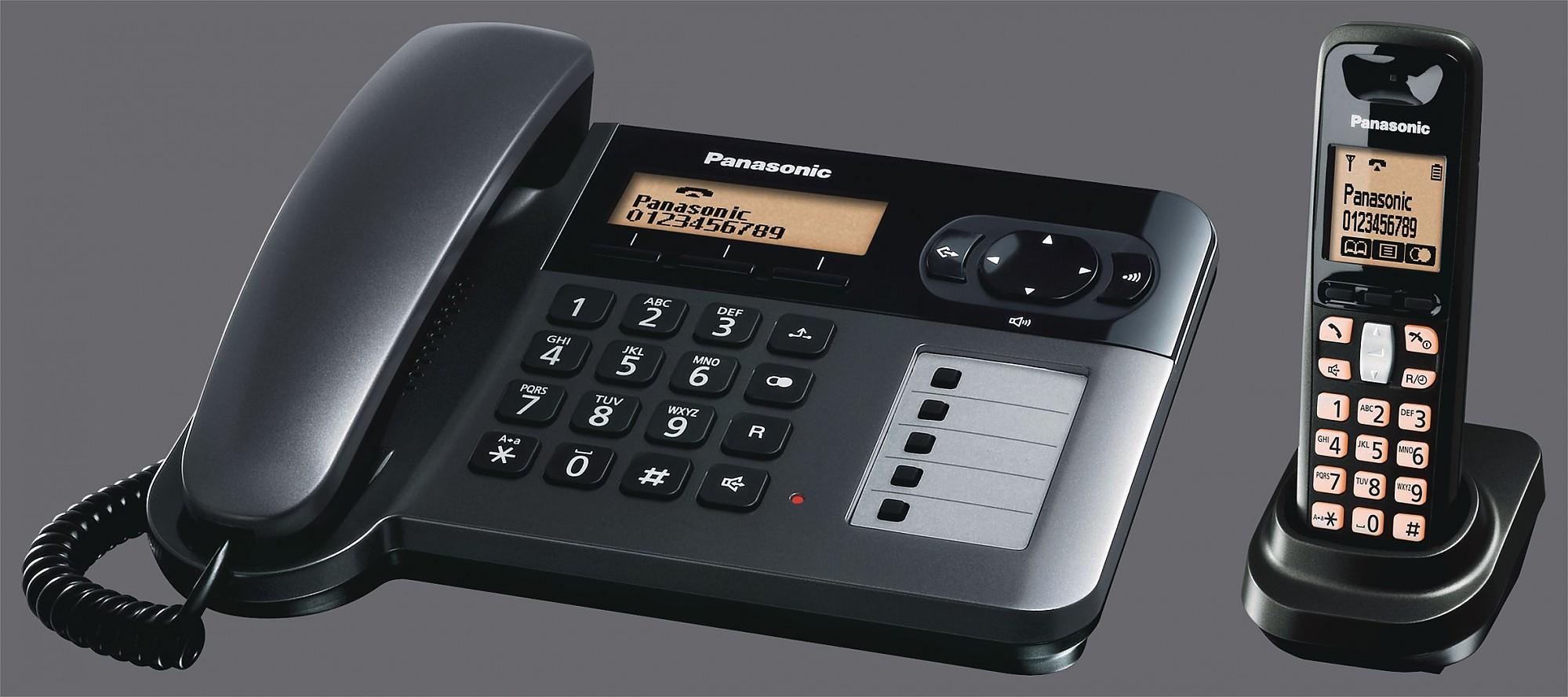Kx tg6451gt titanio nero panasonic telekom telefoni - Telefoni a parete ...